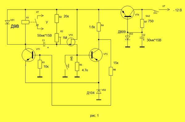 транзистор VT3 закроется,